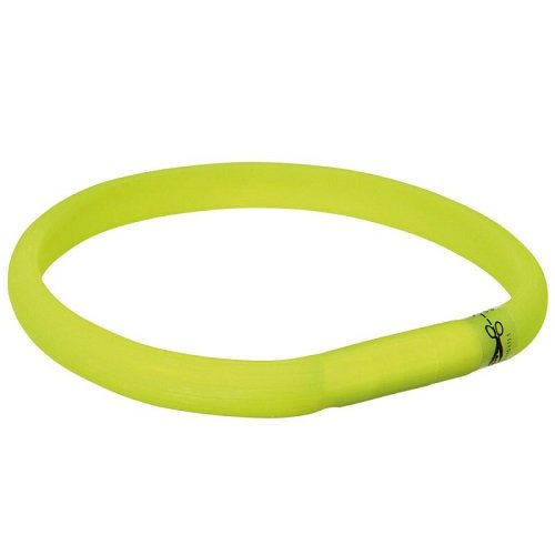 Trixie 12684 Flash Leuchtband USB, M-L: 50 cm/18 mm, grün
