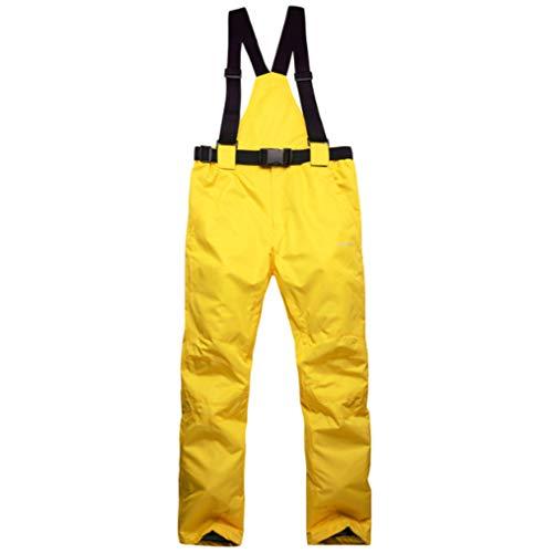 Mitef Erwachsene Skihose Warm wattiert Winddicht Wasserdicht Snowboardhose und Größen, Herren, gelb, Large -