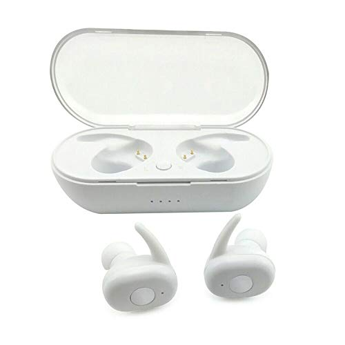 DANGSHUO TWS audífonos inalámbricos Bluetooth 5.0 con funda de carga inalámbrica