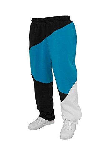 Urban Classics TB286 Zig Zag Sweat Pant Pant Pantalone Tuta Uomo Urban Fit Black Turquoise White