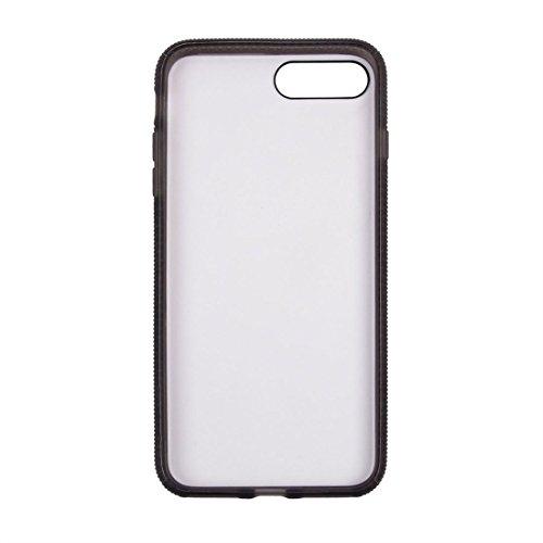 IPhone 7 Plus Fall Denim-Beschaffenheit magnetischer Saug-Art-TPU + PC Pasten-Haut-schützender Fall-rückseitige Abdeckung für iPhone 7 Plus by diebelleu ( Color : Brown ) Grey