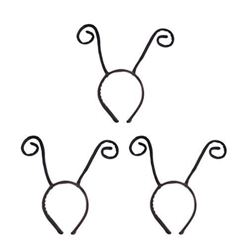 Antenne Stirnband Kostüm - Holibanna 3pcs Antenne Stirnband Kopf Boppers Bug Antenne Stirnband Halloween-Kostüm