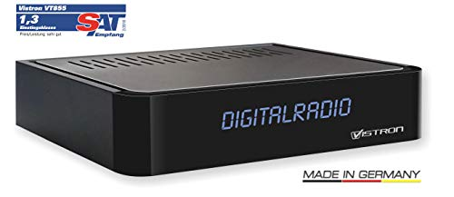 Vistron VT855 DVB-C Radio Tuner, Kabelradio, Radio für digitales Kabelfernsehen von Vodafone, Unitymedia, Telecolumbus, M-Net usw. Digitale Video-display-kabel