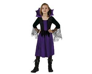 Atosa-98863 Bruja Disfraz Mujer Araña 10-12, color violeta, 10 a 12 años (98863)
