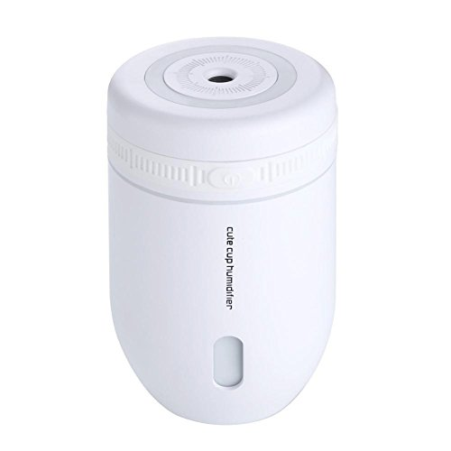 CFZHANG Cup Luftbefeuchter Mini USB kreative Nacht Licht Desktop Büro Luft Zerstäuber Geschenk , white