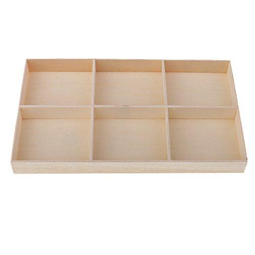 Sharplace Holz Aufbewahrungsbox Schmuck Box Blumentopf Lagerbox Pflanzer Lagerung - 6-Grid