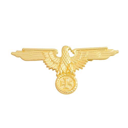 Eagle Gold/Silber Broschen Abzeichen Revers Pin Broschen Cap Cockade Herrenschmuck, Gold