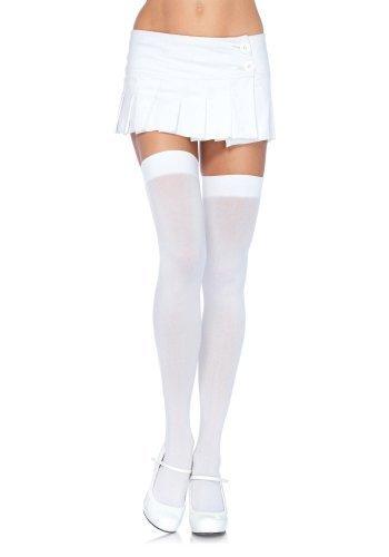 Sexy weiß blickdicht Overknee Oberschenkel Höhe One Übergröße 6672 Kostüm 8 10 12 14 16 18 20 22 - Weiß, Plus Size (Plus Size Kostüme Valentine)