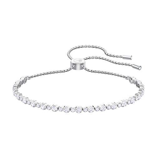 Swarovski bracciale subtle, cristallo bianco, rodiato, da donna