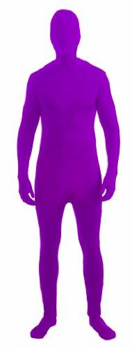 isible Costume Jumpsuit Child: Neon Purple Large (Invisible Man Kostüm Kind)