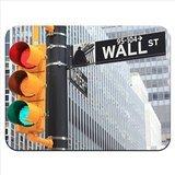 Mauspad, Motiv: Wall-Street-Straßenschild mit Verkehrsampel