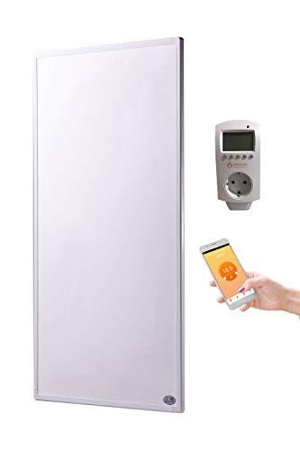 Könighaus Fern Infrarotheizung + Thermostat und App mit Smart Home Lösung Temperatur und Programmierung über Handy app steuerbar ✓GS Tüv (130 Watt)