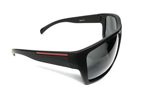 KGM Accessories Stilvolle polarisierte Designer-Sonnenbrille - Herren polarisierte Sonnenbrille - Schwarz