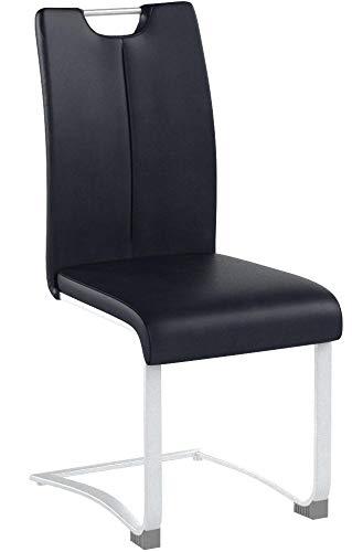 Schwingstuhl Küchenstuhl Esszimmerstuhl Schwinger Stuhl'Kerrin II' (2-er Set) Schwarz