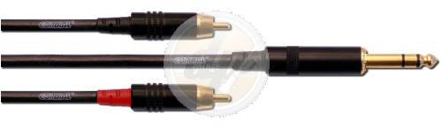cordial-cfy-3-vcc-y-adaptor-cable-63-mm-stereo-2x-rca-3-m-with-gold-plated-contacts