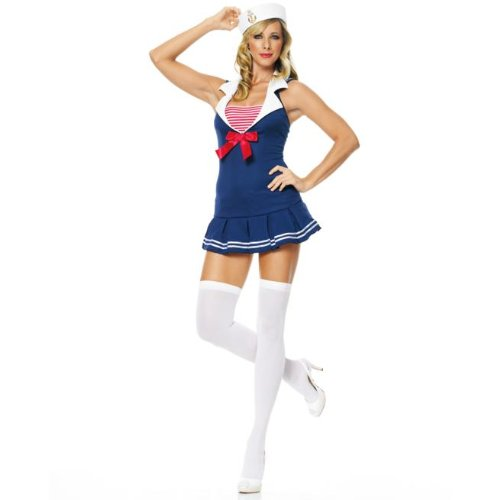 Leg Avenue - 2-teilig - Seemann Cadet Kostüm - 83324, (Kostüm Leg Seemann Avenue)