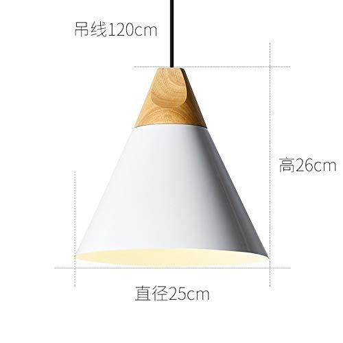 Cafe luce personalità creativa appeso grande diametro 25 cm bianco senza fonte di luce