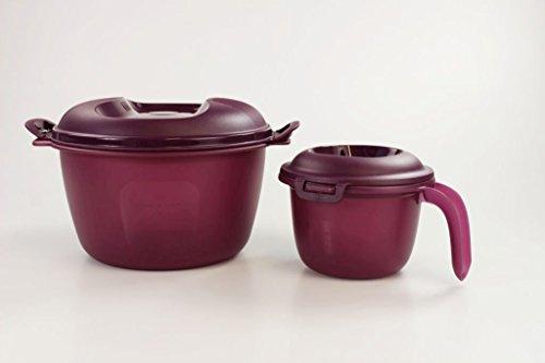 TUPPERWARE Mikrowelle Reis-Meister 3,0 L + Junior-Reis-Meister 550 ml Reiskocher lila 26825