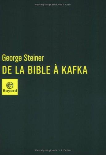 De la Bible à Kafka