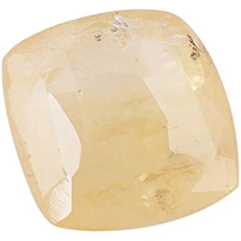 Be You 7.07cts Giallo Colore Sfaccettato Cuscino Forma Naturale Ceylon Zaffiro giallo - Ceylon Sapphire