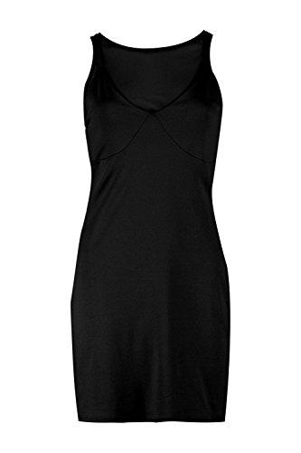 Schwarz Damen Claira Bodyconkleid Mit Oberteil Aus Netzstoff Schwarz