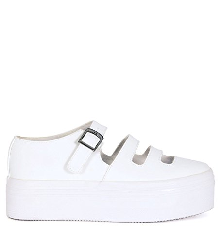 Sneaker JC Play Zomg Basse in Pelle Bianca