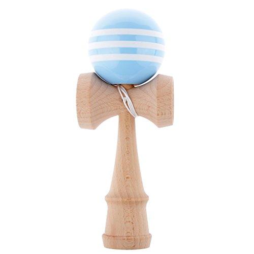 Kinder Spielzeug Geschicklichkeit Ball Aus Holz Bildungs-Spiele - Weiß+Himmel Blau, Oberfläche