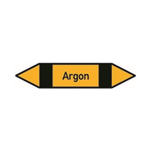 itungskennzeichnung Gruppe 5, Nichtbrennbare Gase, (schwarz, gelb, schwarz), P 5002 Argon Größe: 12,6 x 2,6cm ()
