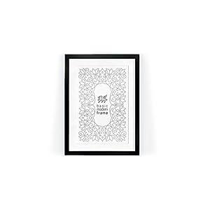 Njordix New Modern MDF Bilderrahmen ohne Rundungen, 50x70 cm, schwarz mit Acrylglas, incl. Passepartouts für DINA3, DINA2.