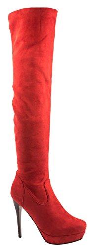 Elara , Bottes classiques femme Rouge