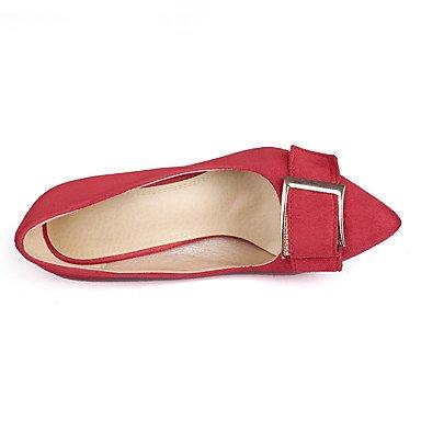 Moda Donna Sandali sexy donne tacchi tacchi / Punta Ufficio vello & Carriera / Party & sera abito / Stiletto Heel fibbia Black