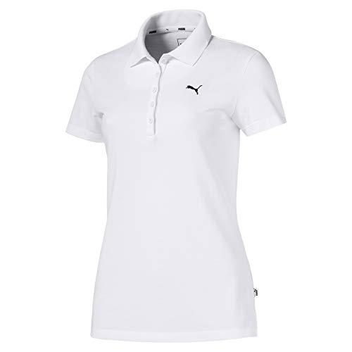 PUMA Damen ESS Polo Poloshirt, White-CAT, S