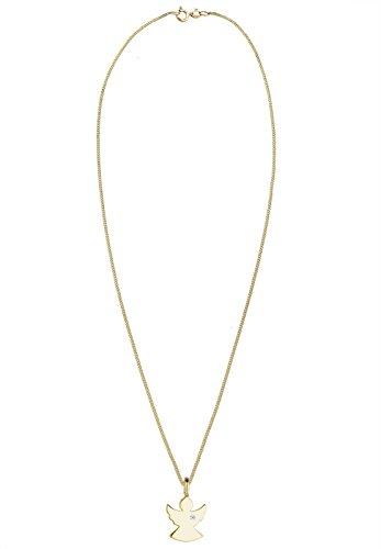 Diamore Damen Collier 585 Gelbgold Diamant weiß 0,01 ct Rundschliff 45 cm 0106552415_45