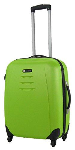 Skylite Luggage Valise à roulettes Medium 60 litres Coque rigide 4 roues ABS vert Green moyen
