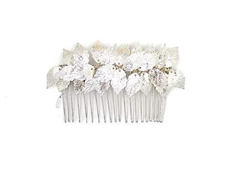 Dea Siver foglia tiara Comb–da sposa capelli clip pettini greca fascia MUM accessori per capelli