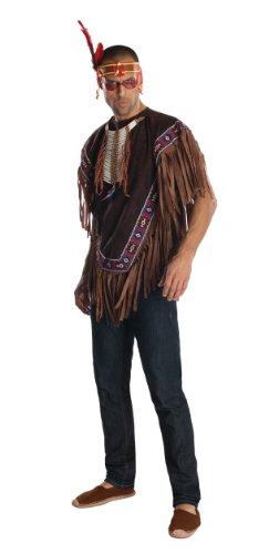 Kostüm Häuptling Herren Indianer - Rubie's Herren-Kostüm Indianer, Offizielle Verkleidung, Größe XL