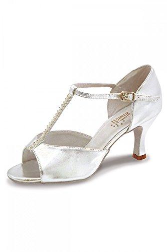 Roch Valley Yana Standard Latein Tanzschuhe für Damen Silber 6.5L (40)