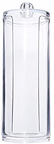 JaneDream Cotton Pad Storage Transparent Round Cosmetic Organizer For Decoration Dresser
