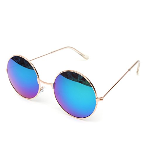 Occhiali da Sole,Retro Occhiali da Sole Unisex Occhiali per Gli Uomini e Donne Telaio Metallo UV400 — OUTERDO