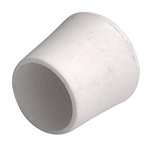 4 Stück Home Xpert Stuhlbeinkappe, Stuhlbeinschutz, Stuhlkappen, rund, Kunststoff in weiß Ø 22 mm