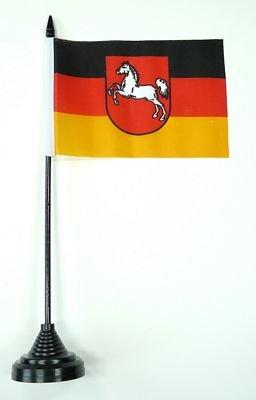 Tischflagge Niedersachsen Flagge Fahne 10 x 15 cm FLAGGENMAE® Tischfahne