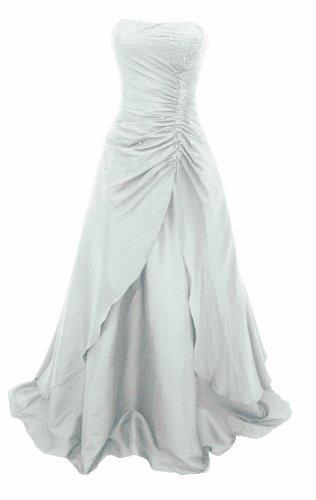 Romantisches Brautkleid / Abendkleid / Ballkleid mit Stola Weiß (38)