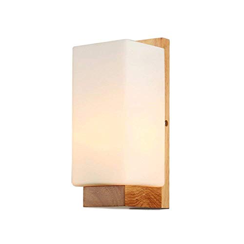 Lámpara de Pared Aplique de Pared industrial Vintage Interior Lámpara Pared Madera...