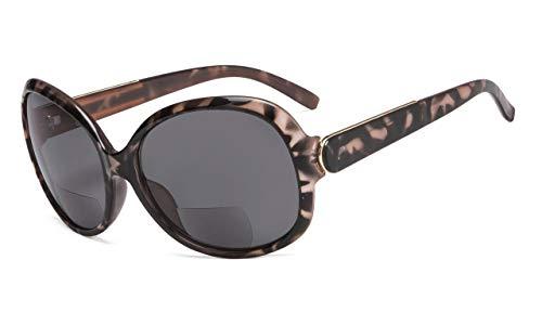 Eyekepper Bifocal Sonnenbrille Frauen Sun Leser +1.00 Strength Lesen Sonnenbrille Übergröße (Schildkröte)