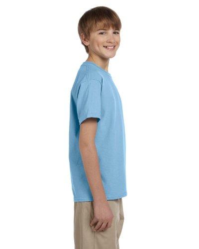 Fruit of the Loom Unisex-Kinder T-Shirt aus Baumwolle Blau - Hellblau