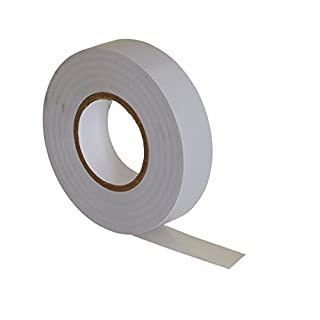 White PVC Electrical Insulation Tape - 20m x 19mm - High Quality - Strong Roll by Gocableties