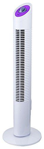 Jocca 2234 - Ventilador de torre, color blanco y morado