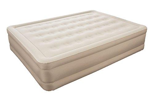 Bestway Essence Fortech™ Airbed (Queen) Luftbett mit eingebauter Elektropumpe, 203x152x43 cm, Beige