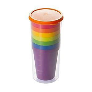 31PhYHyifEL. SS300  - BESTOMZ Unbreakable Reusable Plastic Cups,Rainbow Travel Beverage Tumblers, Juice Drinkware, Set of 8