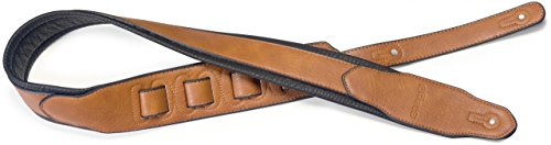 Stagg SPFL 40 HON Padded Leather Style Guitar Strap, Honey